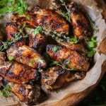 Garlic and Herb Grilled Chicken Wings