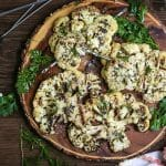 Lemon Herb Grilled Cauliflower Steaks