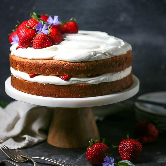 Strawberry and Whipped Cream Cake