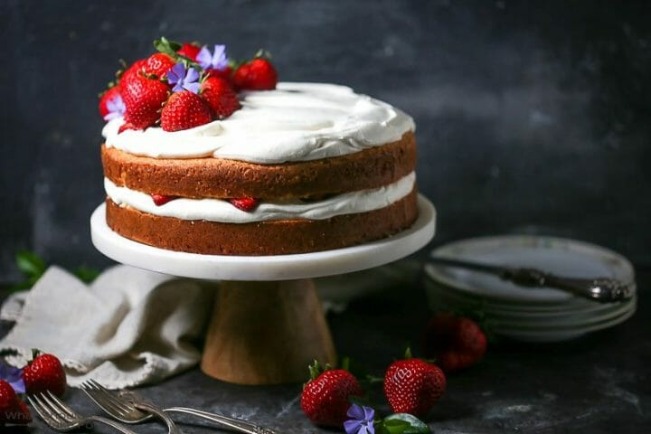 Strawberries and Whipped Cream Cake