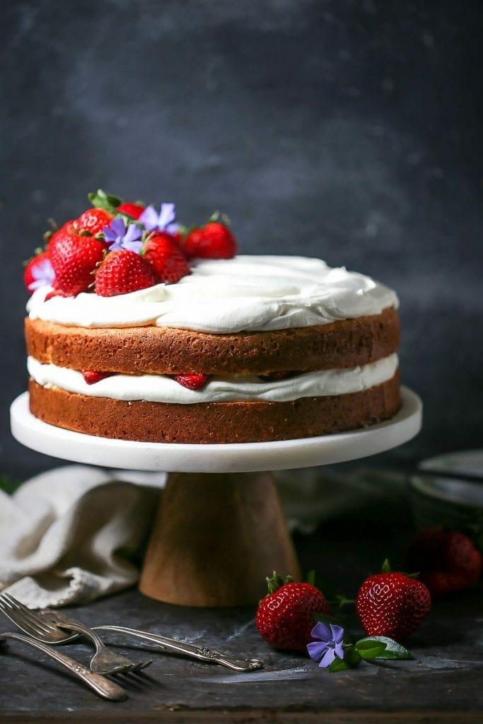 Strawberries and Whipped Cream Cake