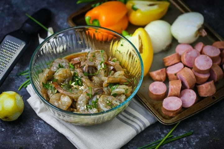 Shrimp and Sausage Skewers