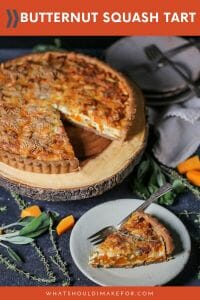 A flavorful whole wheat crust puts a healthy spin on this earthy roasted butternut squash tart.