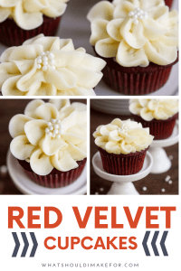 Moist and delicious, these red velvet cupcakes are decorated with pretty cream cheese icing flowers. As pretty as they are tasty, this simple piping technique is easier than you think!