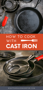 While cast iron may sound intimidating, I promise you it will be your best friend in the kitchen. It's certainly not a light-weight pan, but it is versatile, inexpensive, and a dream to clean.