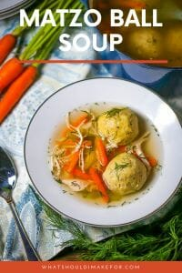 Flavorful chicken matzo ball soup…a labor of love and food for the soul. A Jewish staple, this traditional recipe is a must for the Passover holiday!