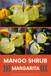 This mango shrub margarita is sharp and sweet and will shake up your classic margarita just in time for Cinco de Mayo.