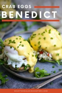 Treat mom to an extra-special brunch for Mother's Day with crab eggs benedict. This recipe is a tasty variation on the classic with fresh crab salad, a poached egg, baby arugula, and topped with Hollandaise sauce.