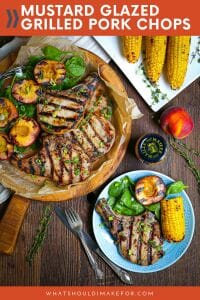 These mustard glazed grilled pork chops are impossibly juicy, incredibly flavorful, and so easy to make. The perfect summertime backyard meal!