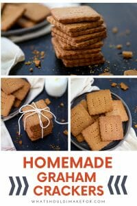 Homemade graham crackers with a touch of sweet honey and cinnamon are the perfect snack and so much better than the store-bought variety.