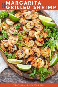 Easy and healthy margarita grilled shrimp will be your summer grilling staple! Serve these shrimp right off the skewer, on top of a salad, or even in a taco...just make sure to pair them with a margarita!