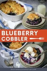 Enjoy those end-of-summer juicy blueberries in the humble cobbler; a blueberry cobbler is the quintessential summer dessert.