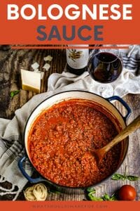 Authentic Bolognese sauce is slowly simmered to rich and hearty perfection. Serve this over fettucine or tagliatelle, sprinkled with parmesan, and don't forget to pair it with your favorite wine!
