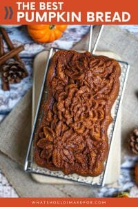 Welcome fall with this easy recipe for the BEST pumpkin bread! Super moist, packed with fall spiced pumpkin flavor, and did I mention EASY?