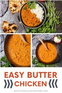 This drool-worthy recipe for easy butter chicken is weeknight ready with a sauce that you'll want to slurp with a spoon!