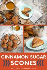Cinnamon Sugar Scones are brunch-ready! Serve these sweetened scones warm with a pot of fresh coffee, fruit, and fuzzy slippers for a relaxing start to the day.