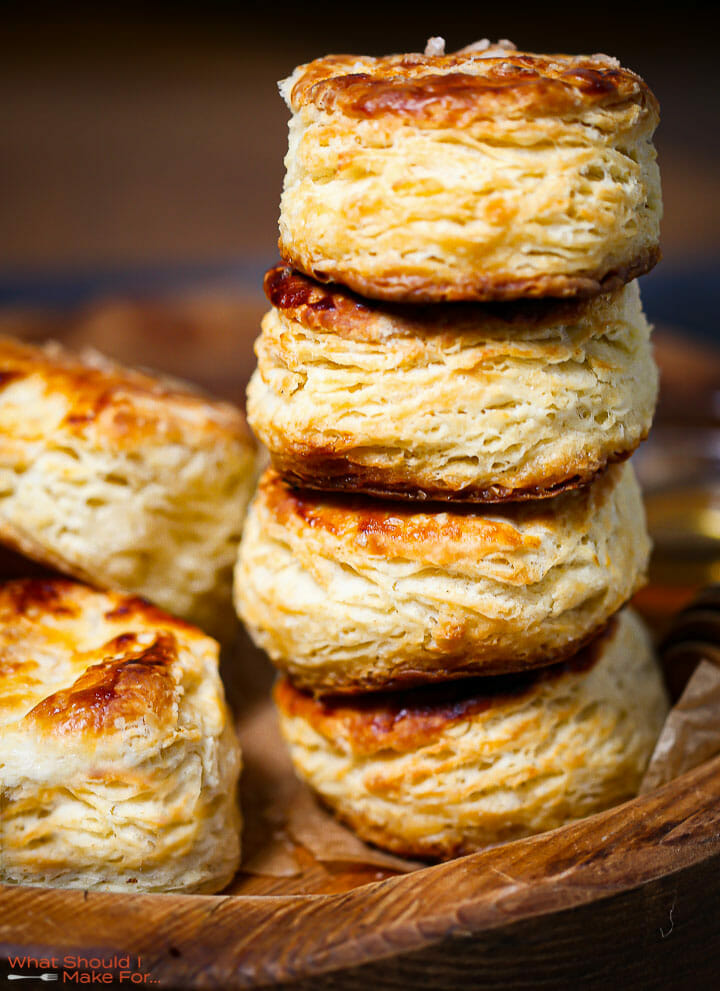 A stack of the best flaky biscuits.