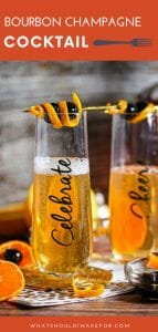 The manhattan meets bubbly with a twist of orange in this sparkling bourbon champagne cocktail.