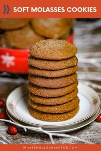 These soft molasses cookies are brimming with warm spices and have a crunchy sugar crust.