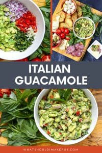 For a delicious twist, use fresh basil in this Italian guacamole. So good smeared on bread or as a dip for crackers or crunchy breadsticks!