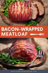 This bacon-wrapped meatloaf takes comfort food to the next level thanks to crispy bacon crust and a sweet and tangy ketchup glaze.
