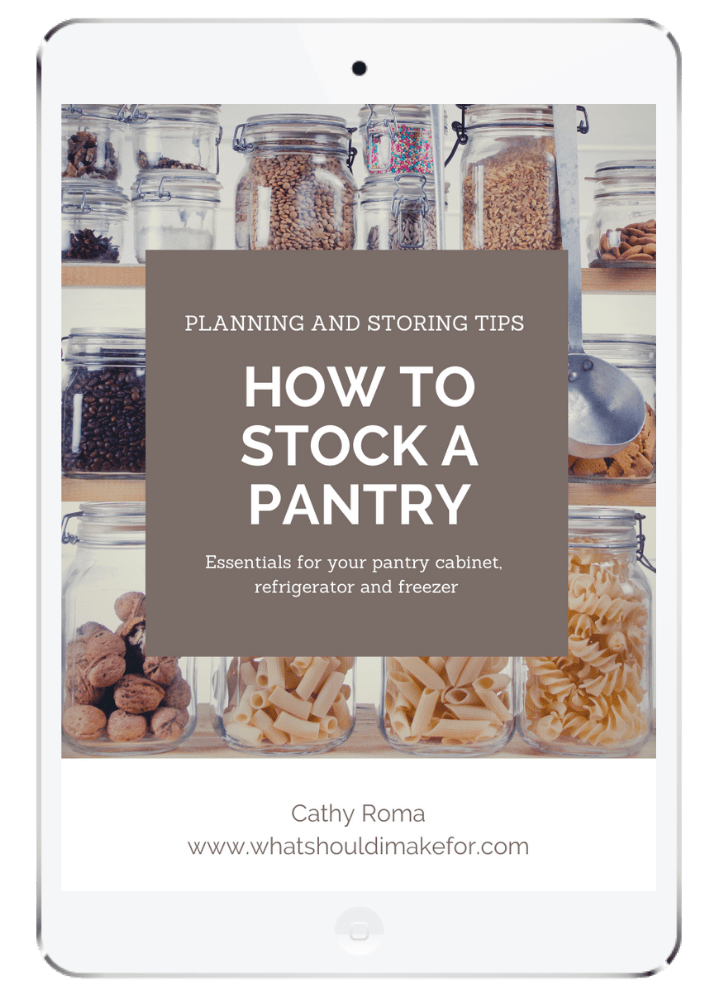 Get Cathy Roma's tips on how to stock a pantry delivered to your inbox!